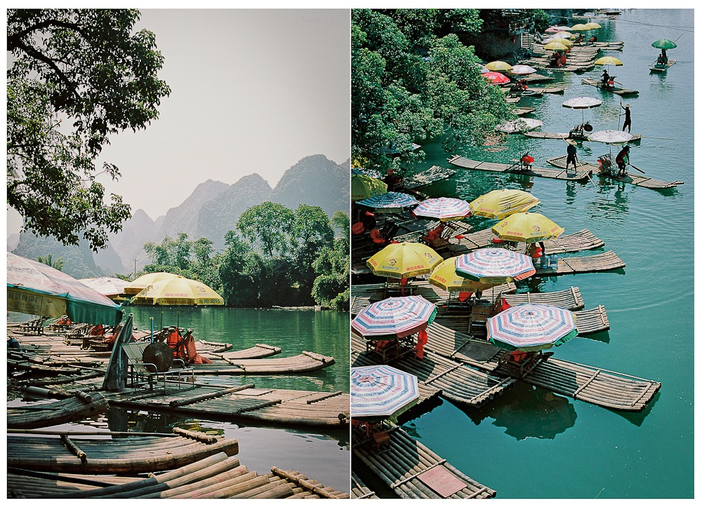 China on Film Yangshuo Yulong river boats