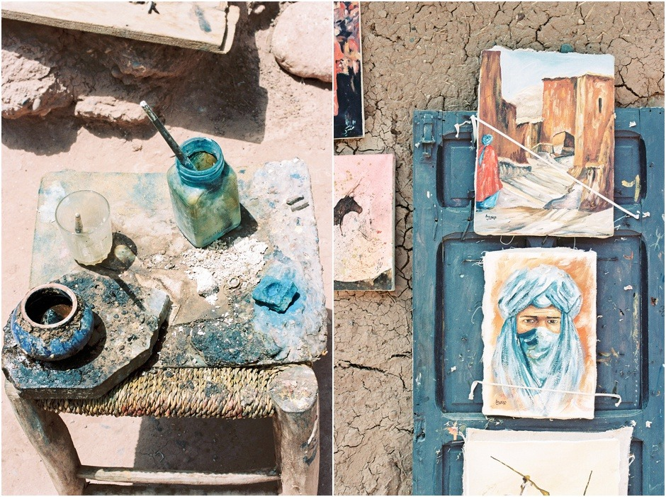 Ksar of Ait-Ben-Haddou, images of the paintings and paint