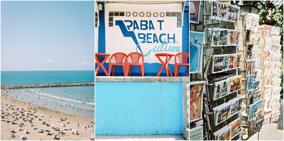 Rabat beach images, of Rabat Beach Shack, postcards and the beach