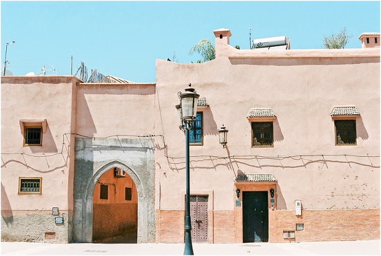 Marakesh buildings in Morocco