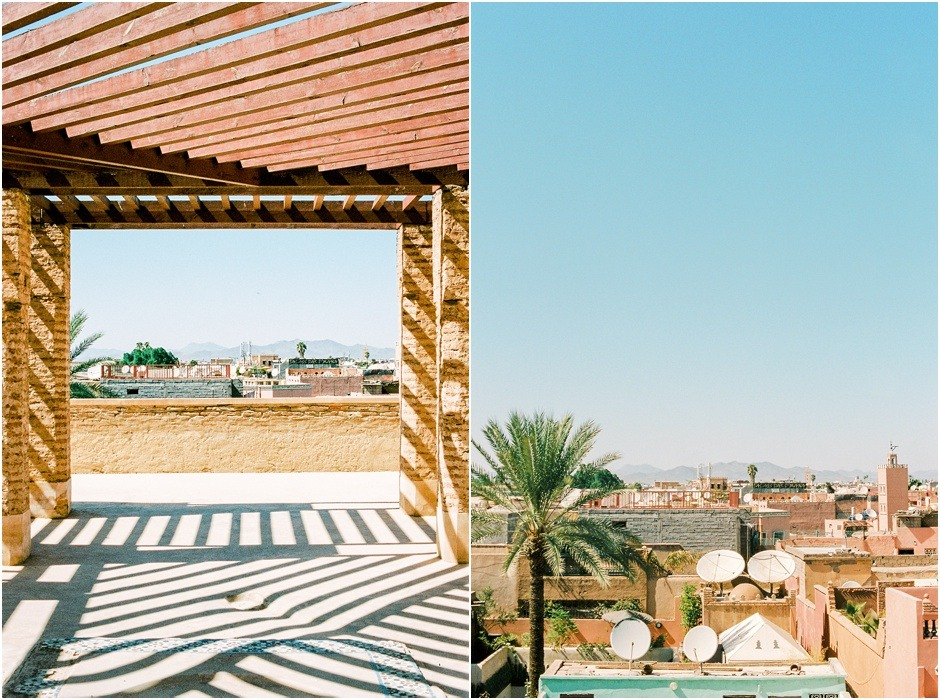 Views of Marrakesh city from the top of El Badi Palace, Morocco