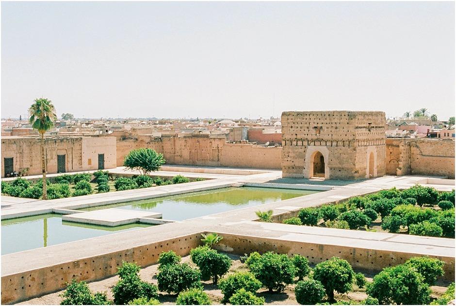 View of the El Badi Palace, Marrakesh, Morocco