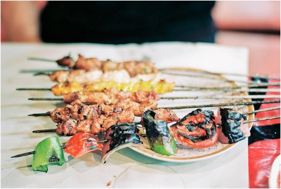 Kebabs in Morocco - street food.