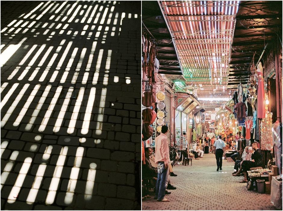 Diptych of the Marrakesh souks