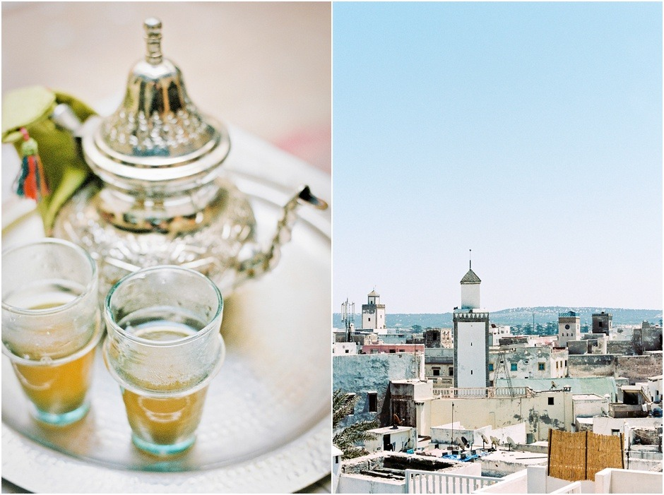 Diptych of Morocco Mint Tea and roof tops