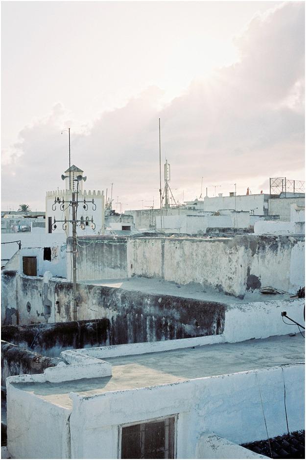 Rabat white rooftops at sunset