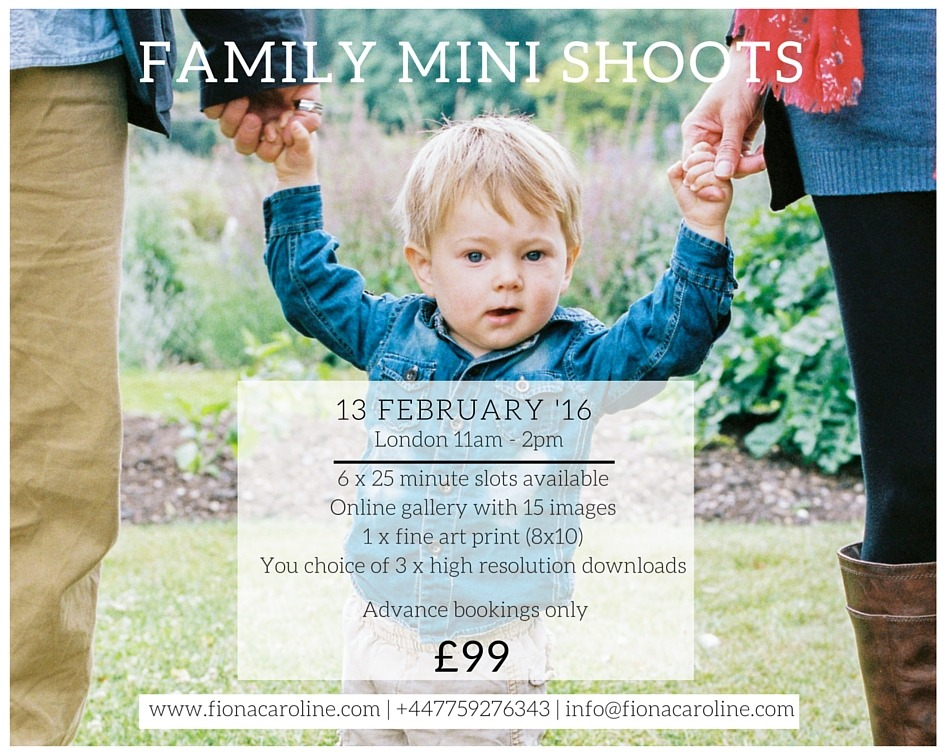 Family mini shoots London Photography