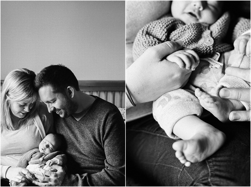 Natural moments between family in Newborn photography