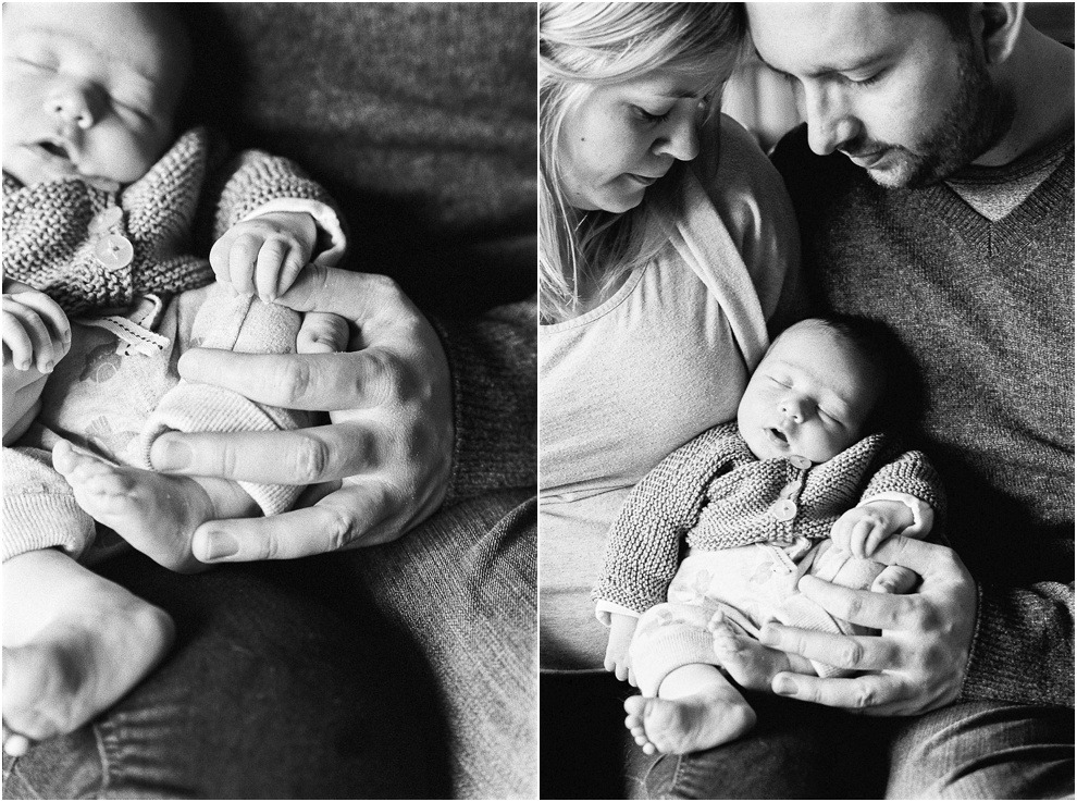 Black and white parents and newborn images shot in Herts. Lifestyle.