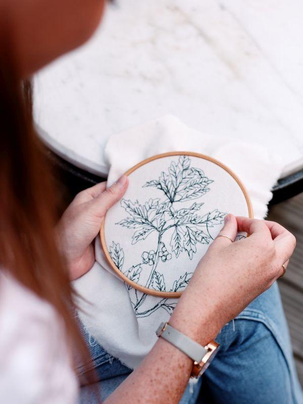 Fiona Caroline Photography Branding Embroidery